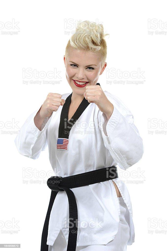Raised fists stock photo