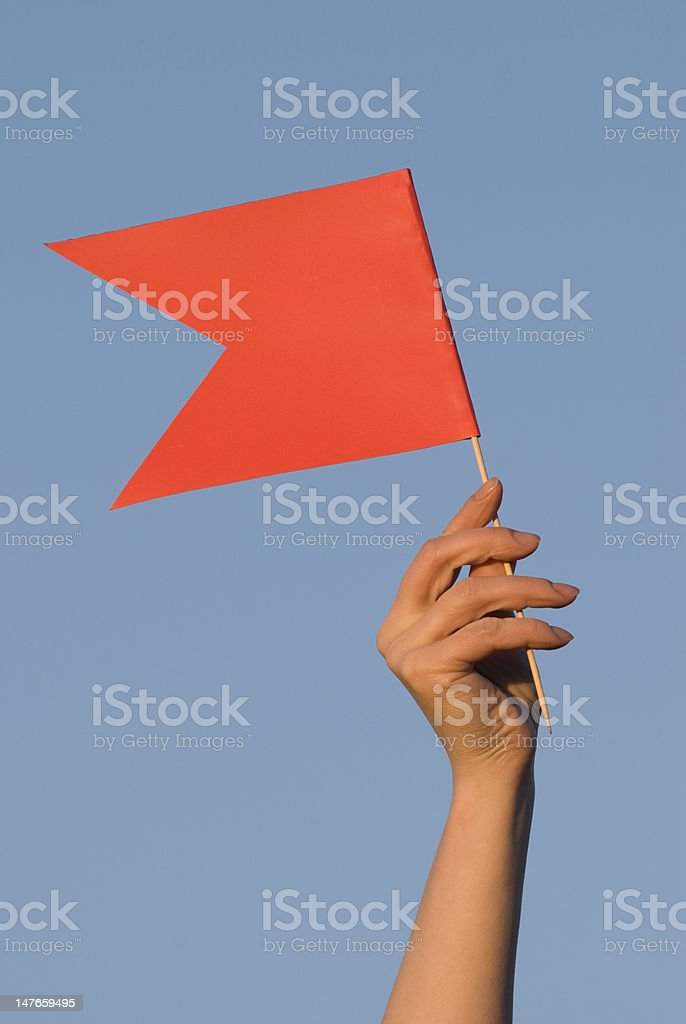 Raised flag royalty-free stock photo