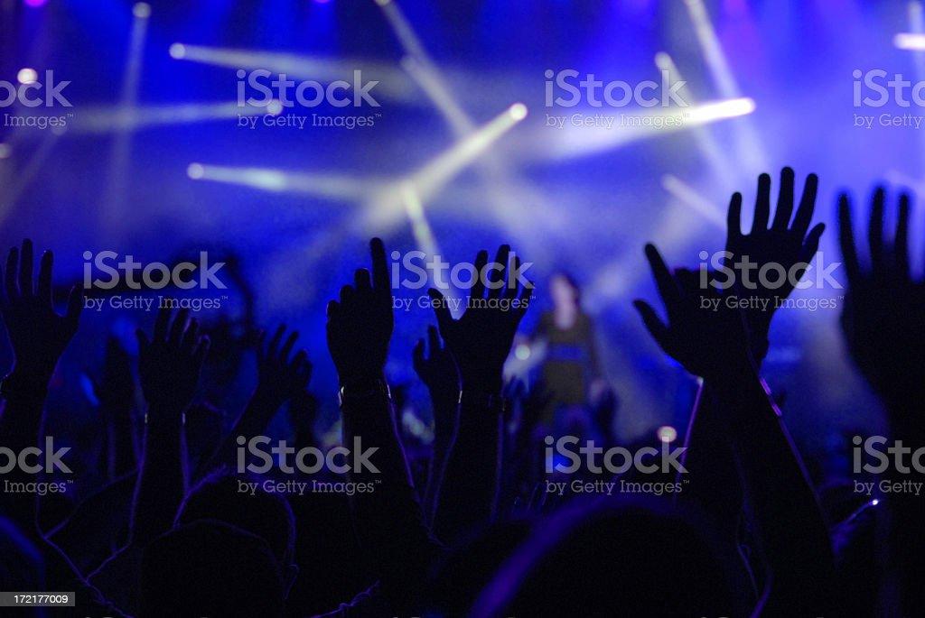 raised hands royalty-free stock photo
