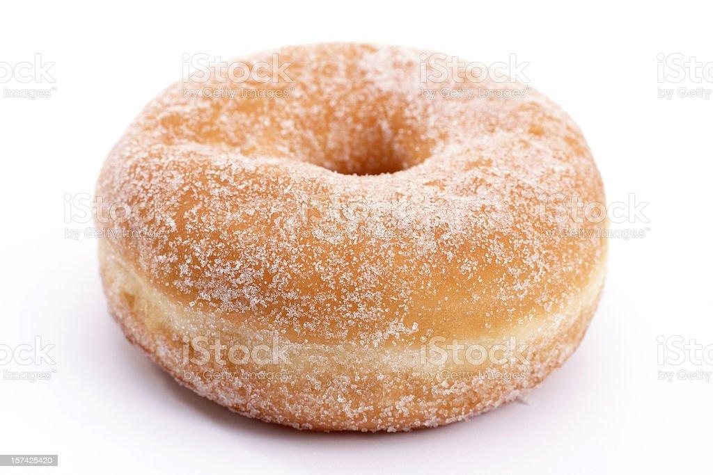 raised sugar donut stock photo