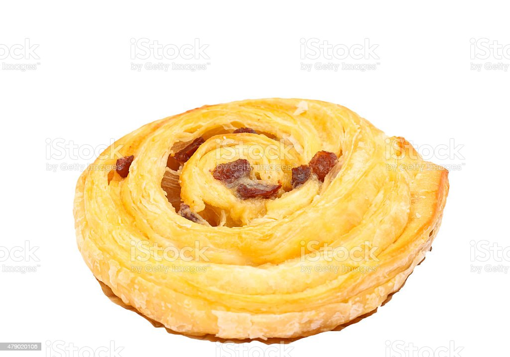 Raisin  baked bread. stock photo
