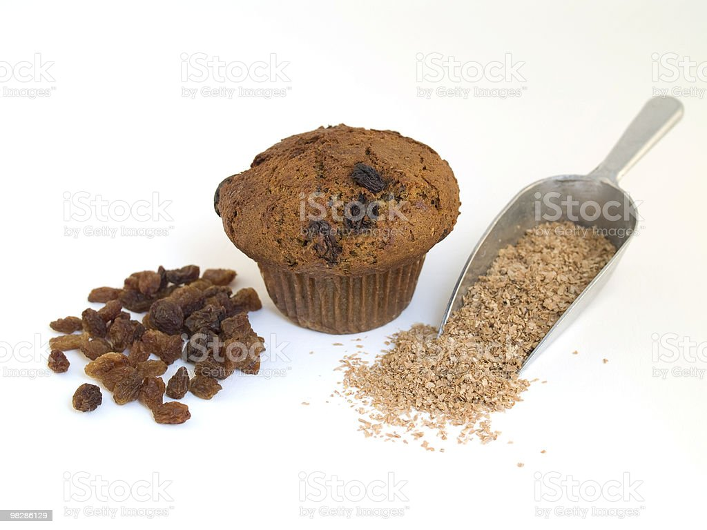Raisin Bran Muffin royalty-free stock photo