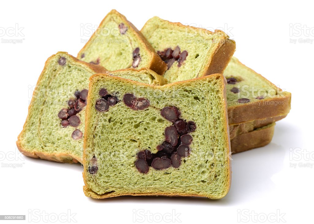 Raisin bread slice stock photo