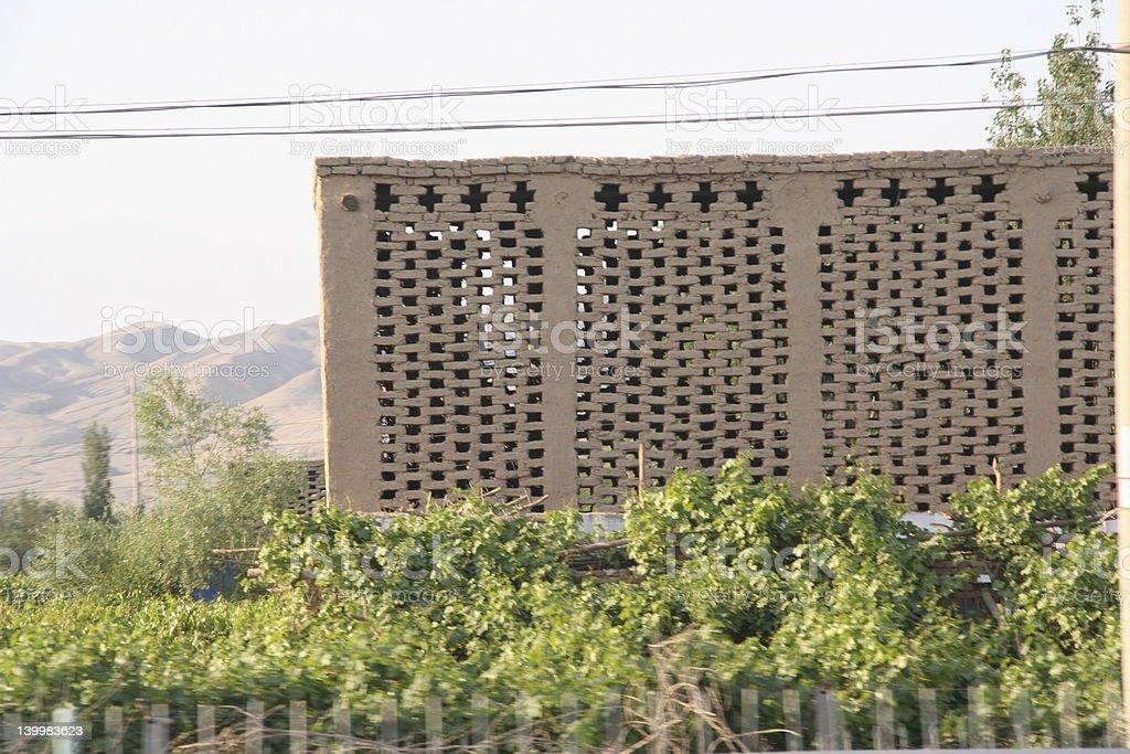 Raisin drying house stock photo