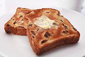 Raisin Fruit Toast with Polyunsaturated Sunflower Oil Margarine