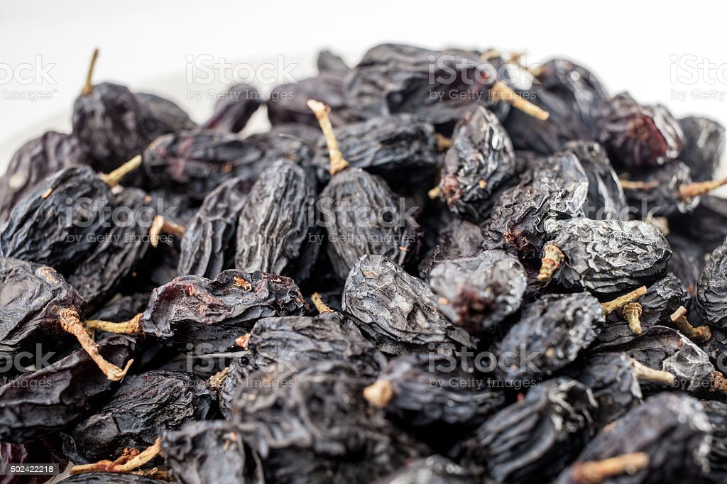 raisin on a white background stock photo