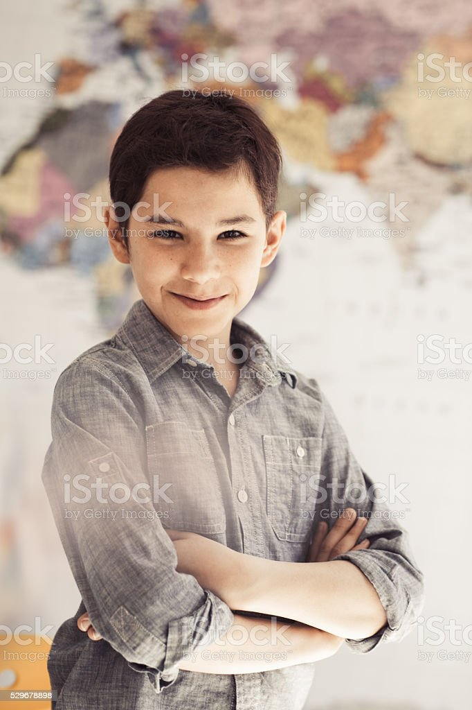 Raising a confident child stock photo