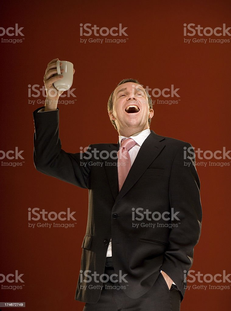 raising a cup royalty-free stock photo