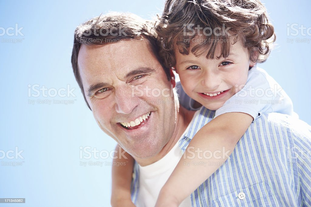 Raising a growing boy royalty-free stock photo