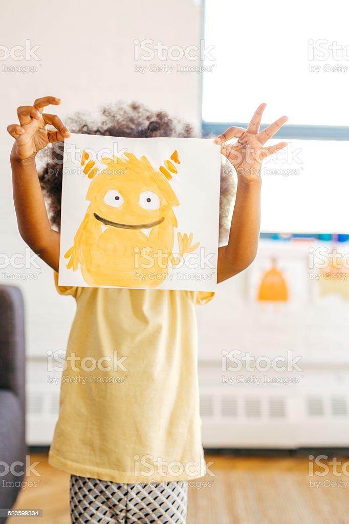 Raising a happy kid stock photo