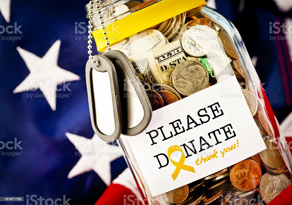 Raising Funds for The Armed Forces stock photo