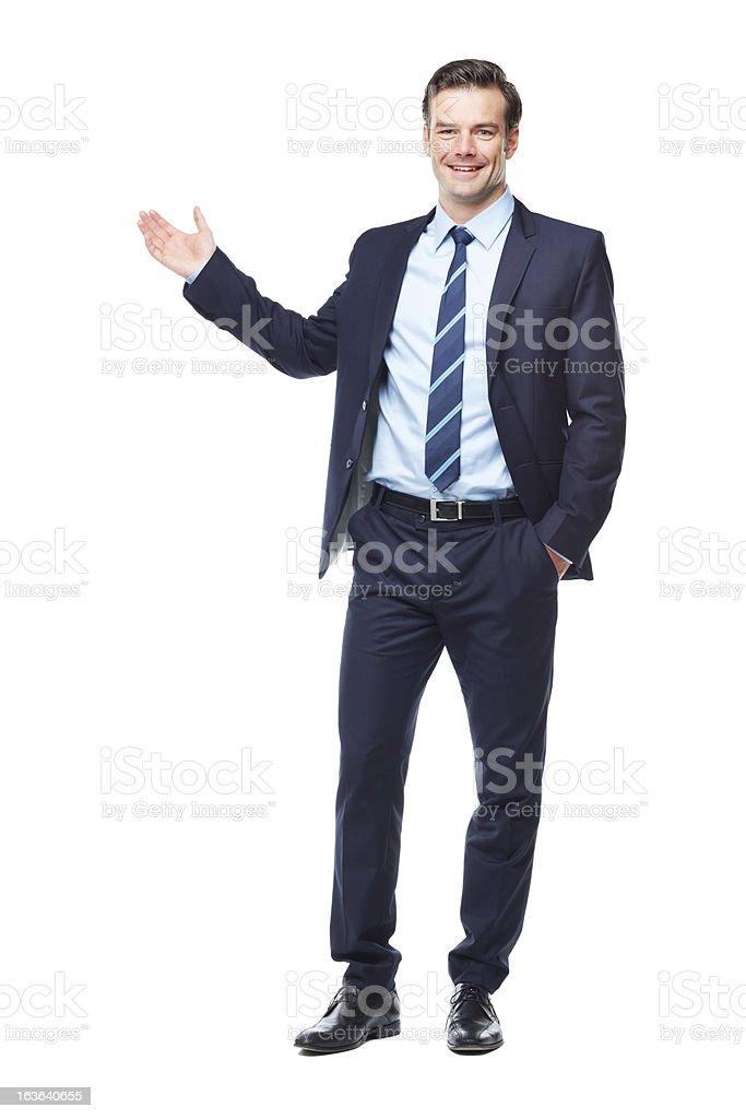 Raising my hand to your success! stock photo