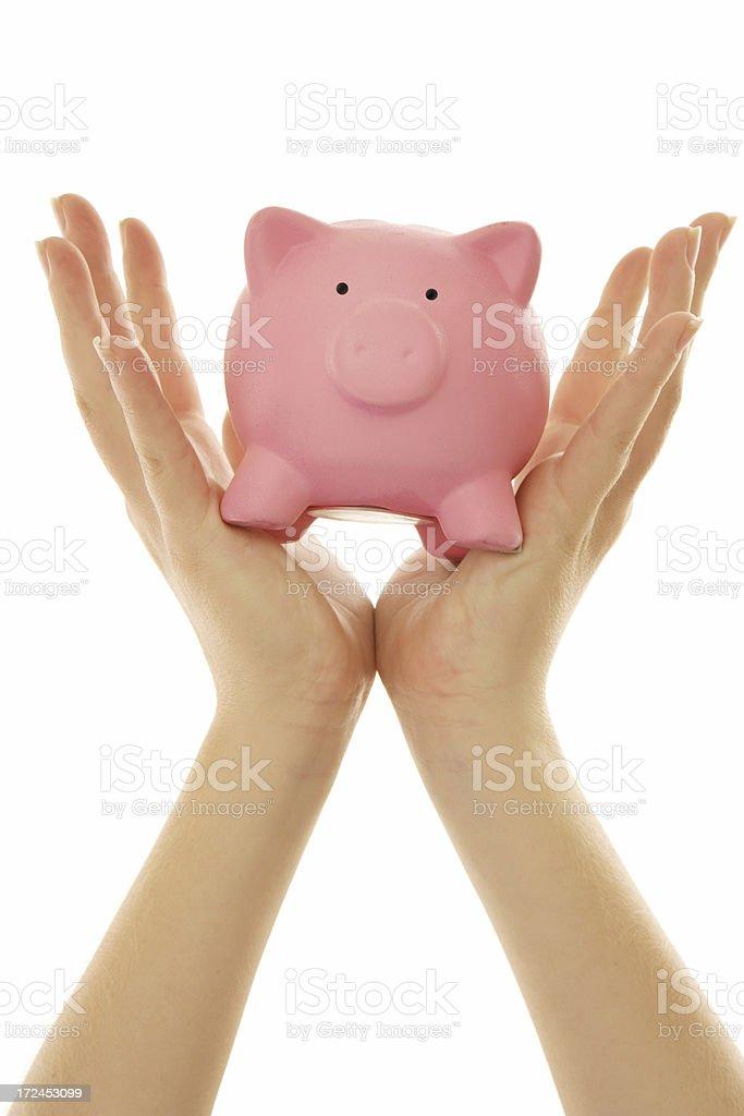 Raising Piggy Bank royalty-free stock photo
