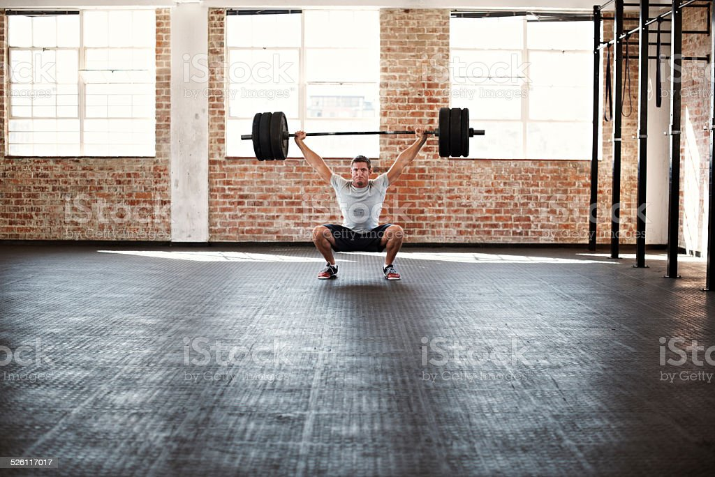 Raising the bar on what he can achieve stock photo