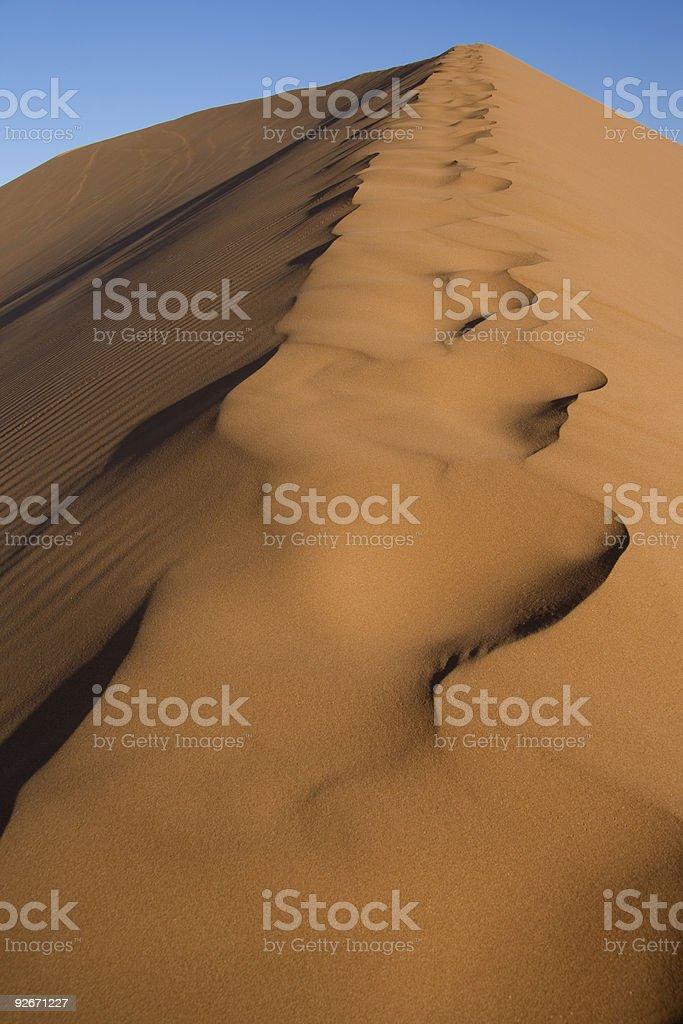 Raising the dune stock photo