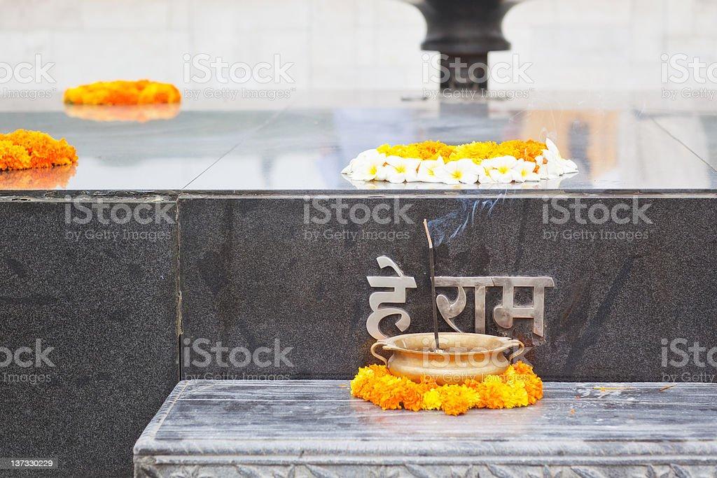 Raj Ghat - Mahatma Gandhi Memorial stock photo