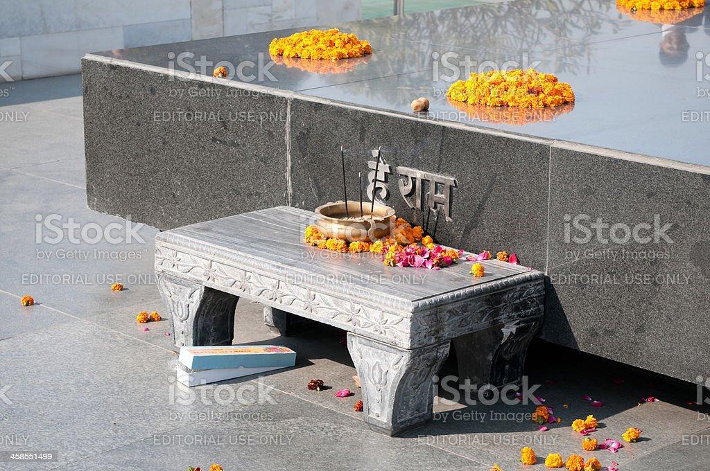 Raj Ghat memorial for Mahatma Ghandi, New Delhi, India stock photo