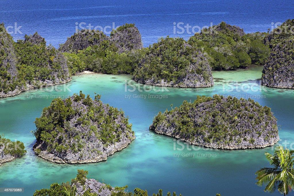 Raja Ampat islands tropical paradise ocean stock photo