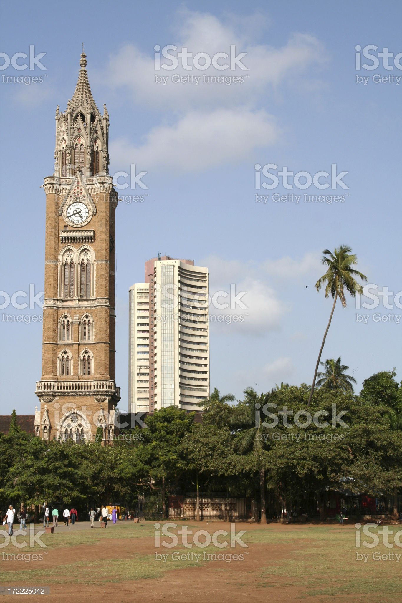 Rajabhai Clock Tower, Mumbai royalty-free stock photo