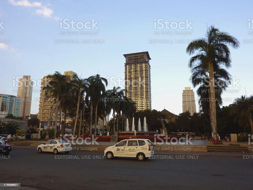 Rajah Sulaiman Park, Manila Bay Philippines stock photo