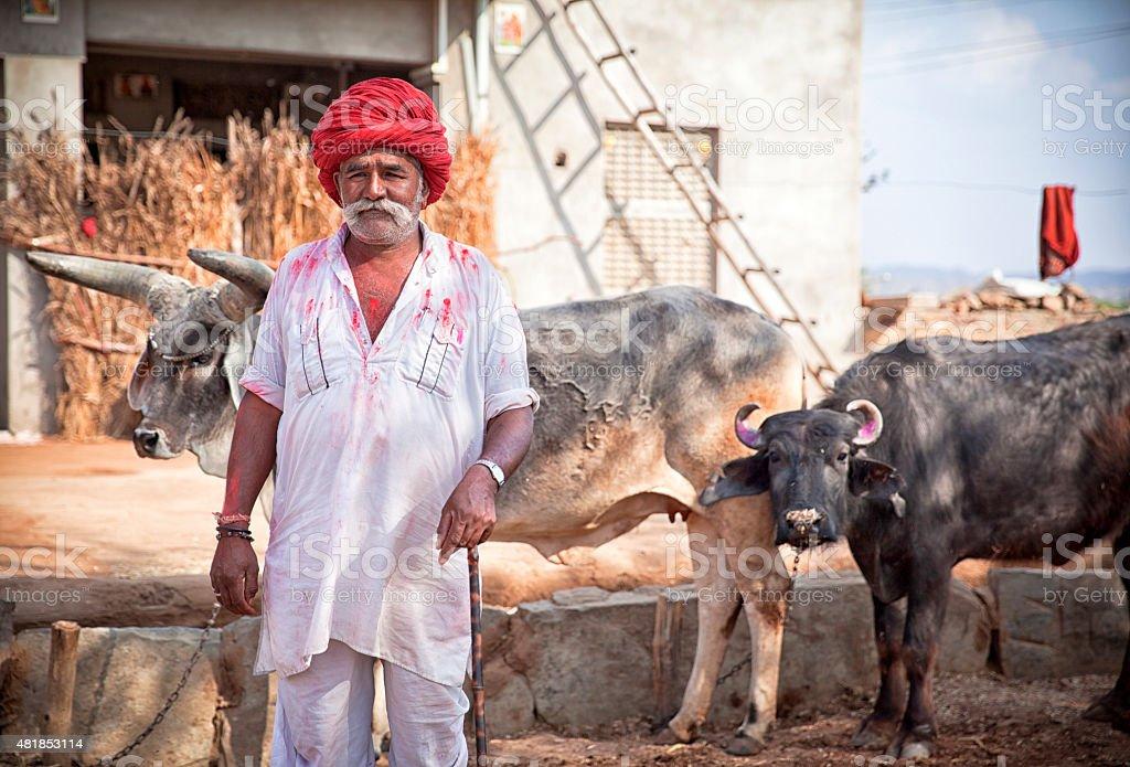 Rajastan Farmer. stock photo