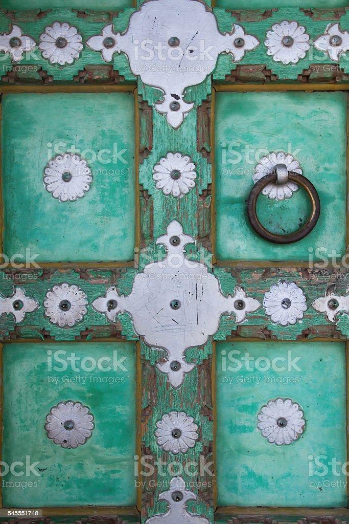 Rajasthan door detail stock photo