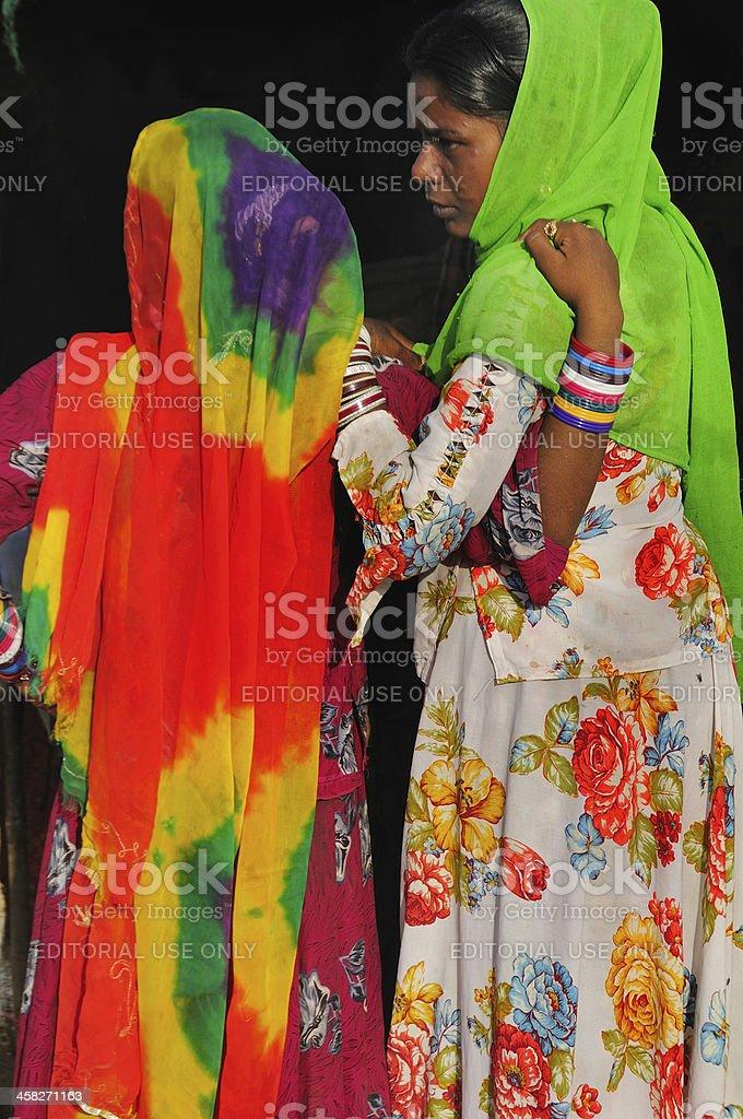 Rajasthan women in Pushkar royalty-free stock photo