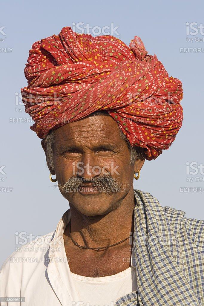 Rajasthani Man royalty-free stock photo