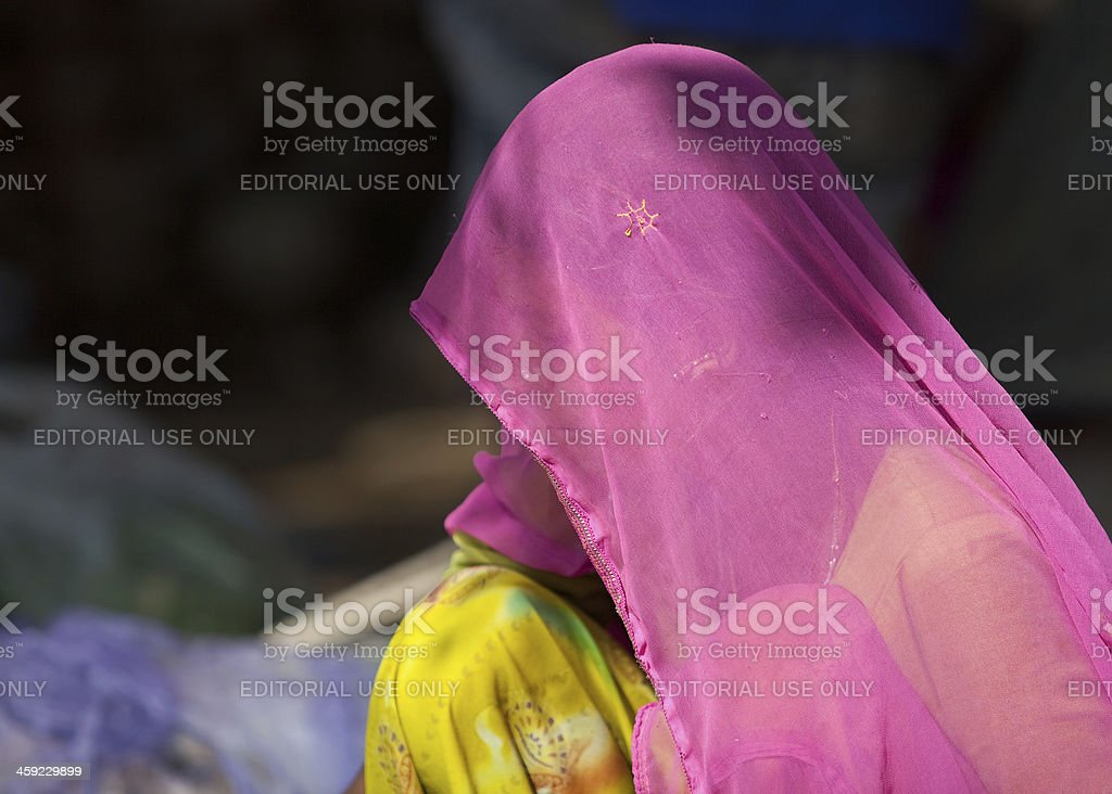 Rajasthani woman at Puskar, India royalty-free stock photo