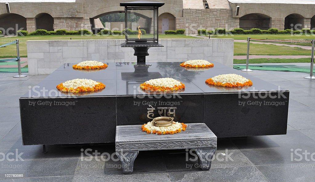 Rajghat Memorial to Mahatma Gandhi Delhi royalty-free stock photo