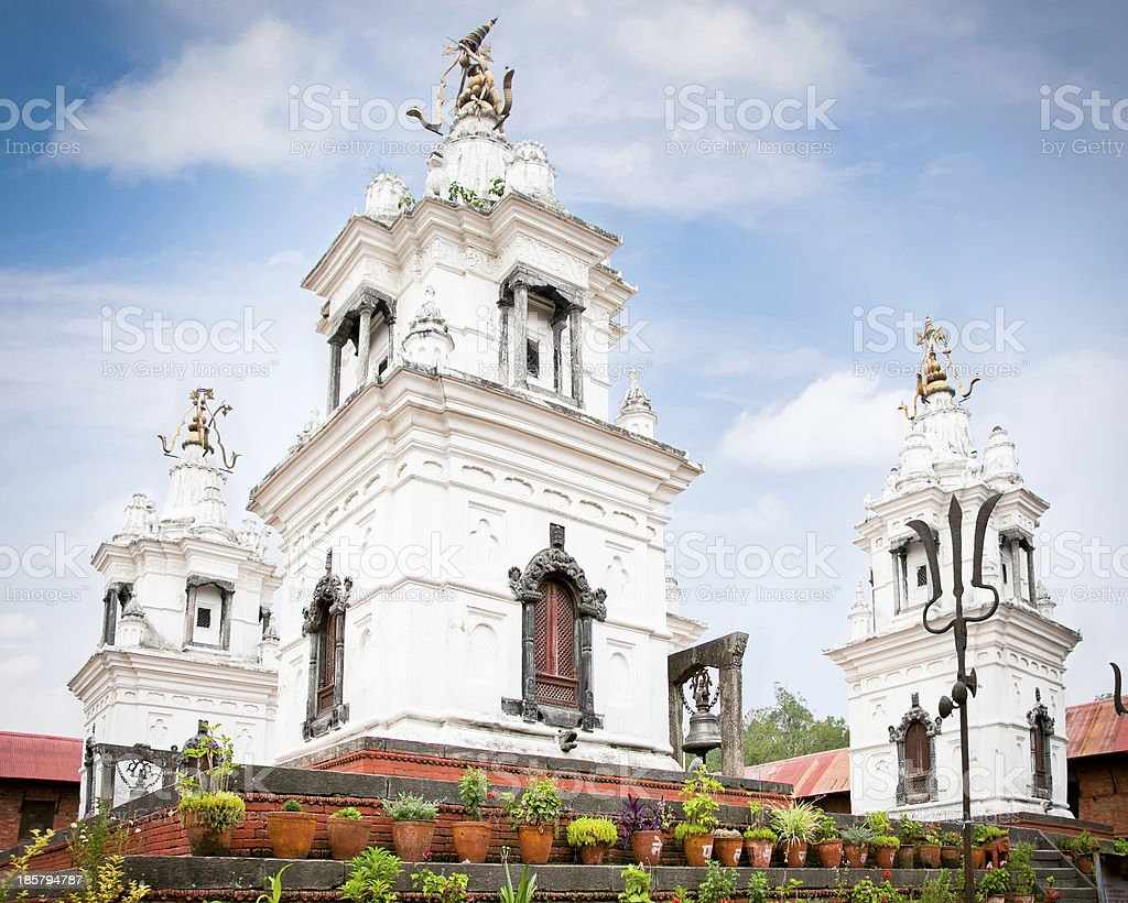 Rajrajeshwari Temple in Pashupatinath complex, Kathmandu. stock photo
