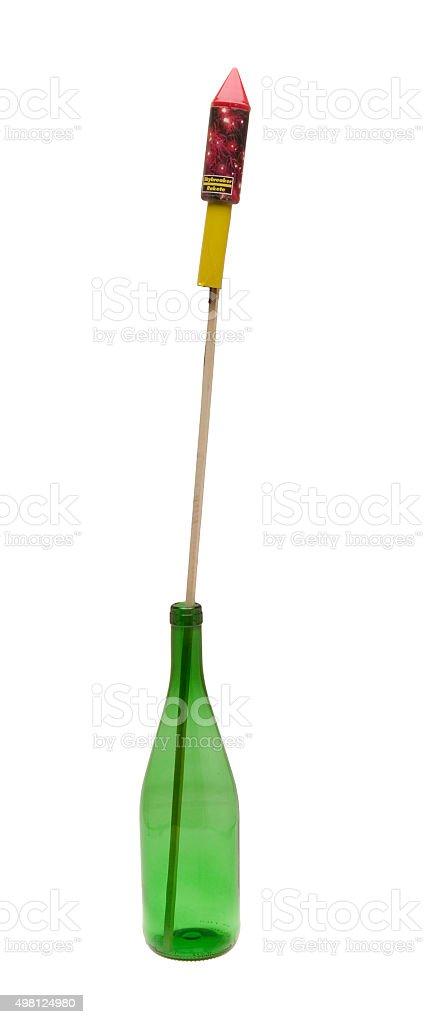 Rakete in einer Flasche stock photo