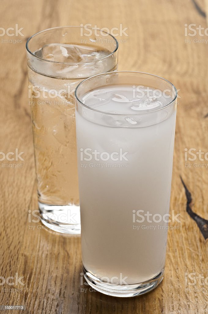 raki and water stock photo