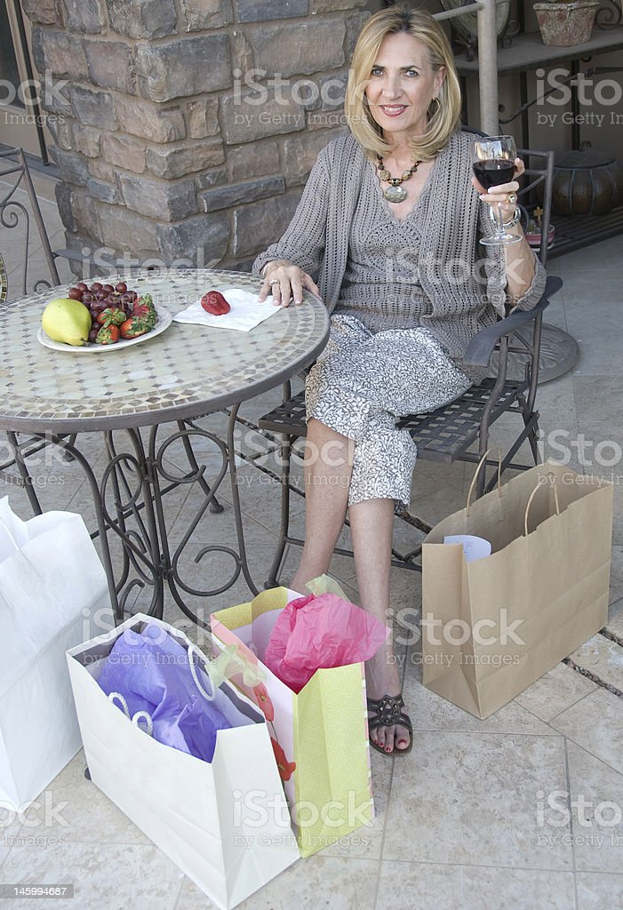 ralaxing after shopping royalty-free stock photo