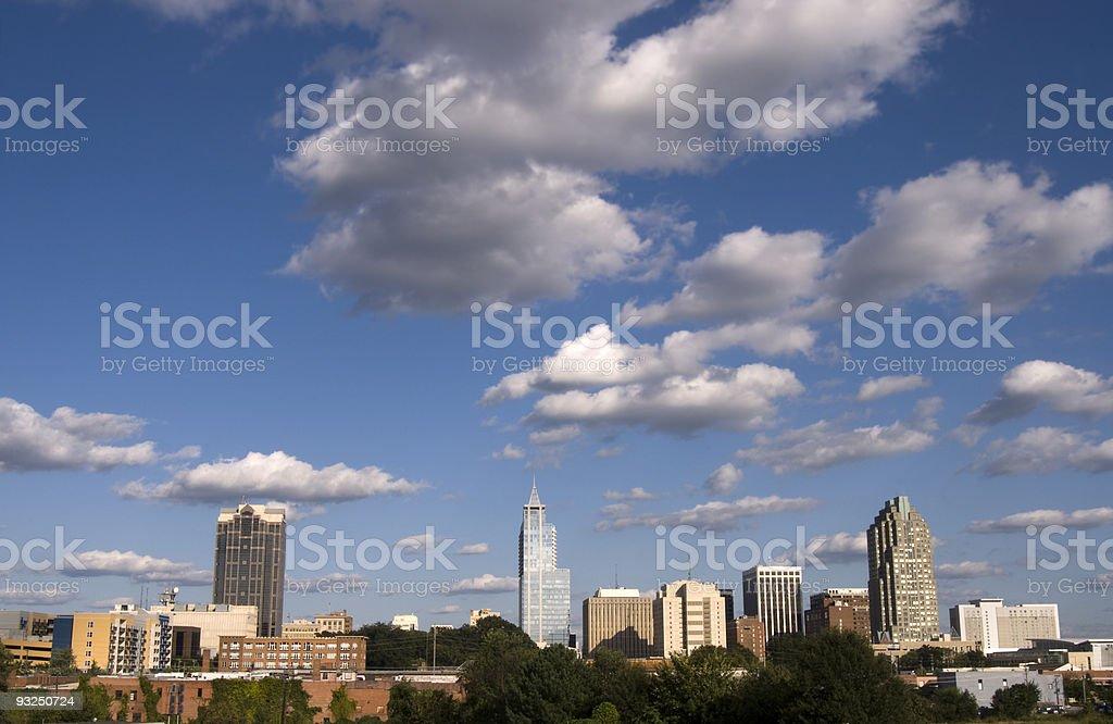 Raleigh North Carolina City Skyline royalty-free stock photo
