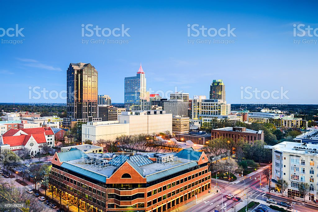 Raleigh, North Carolina Downtown Skyline stock photo