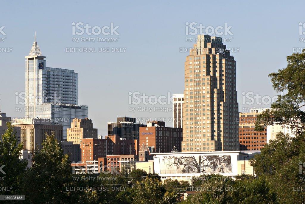 Raleigh, North Carolina Skyline stock photo