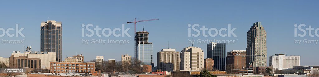 Raleigh Skyline Panorama royalty-free stock photo