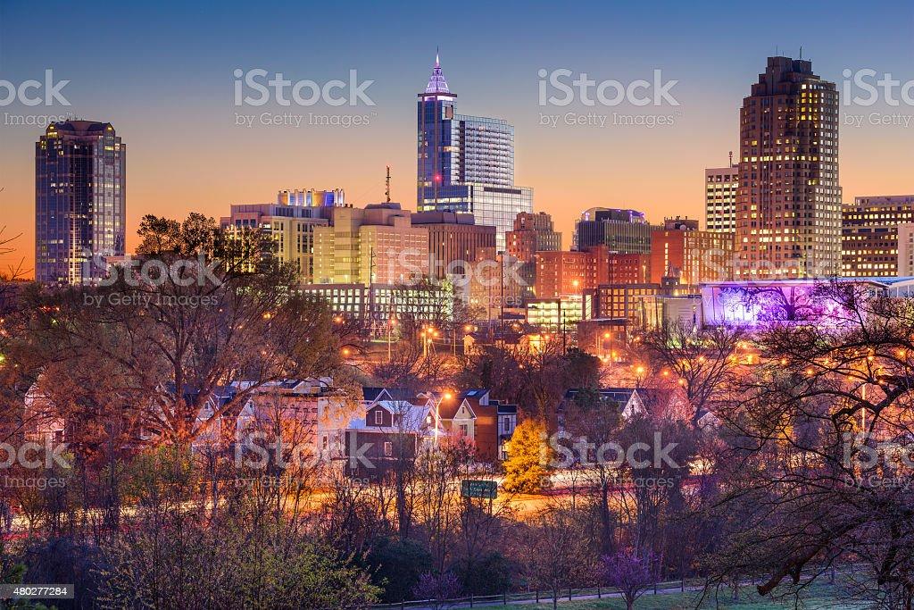 Raleigh Skyline stock photo