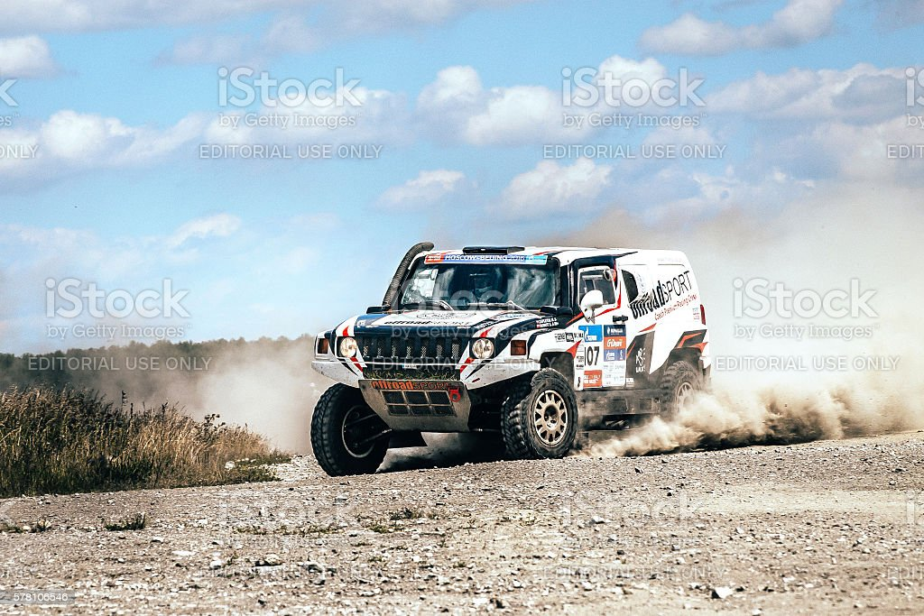 rally car driving on dusty road royalty-free 스톡 사진