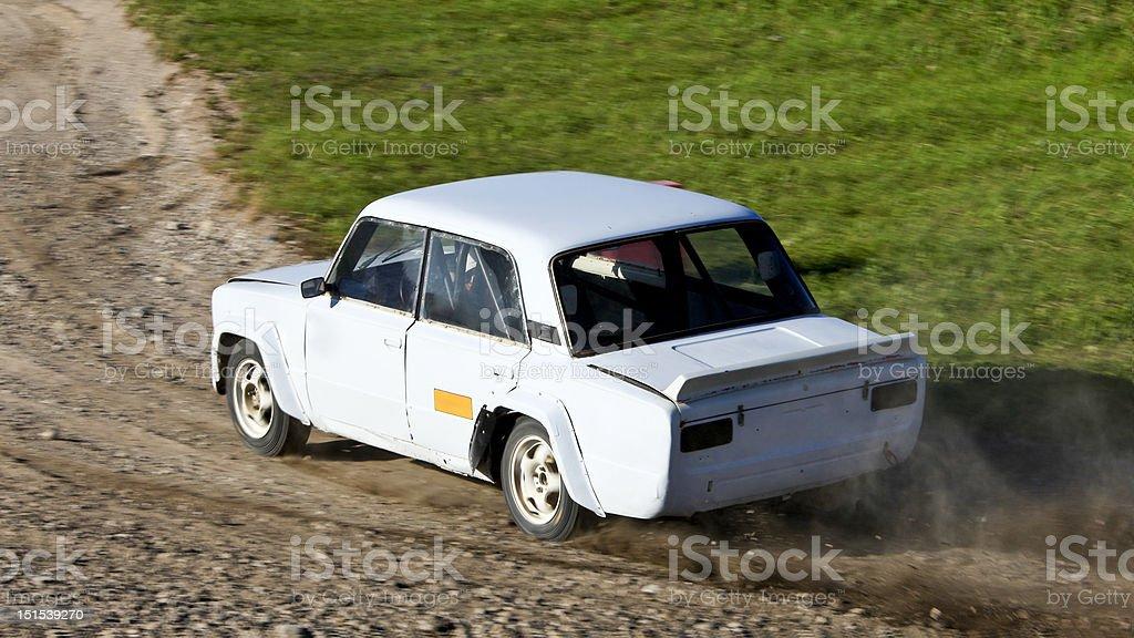 Rally Car. stock photo