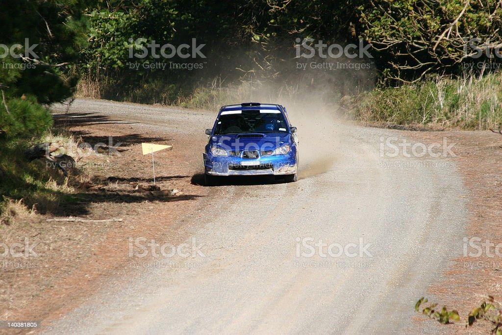 Rally car racing stock photo