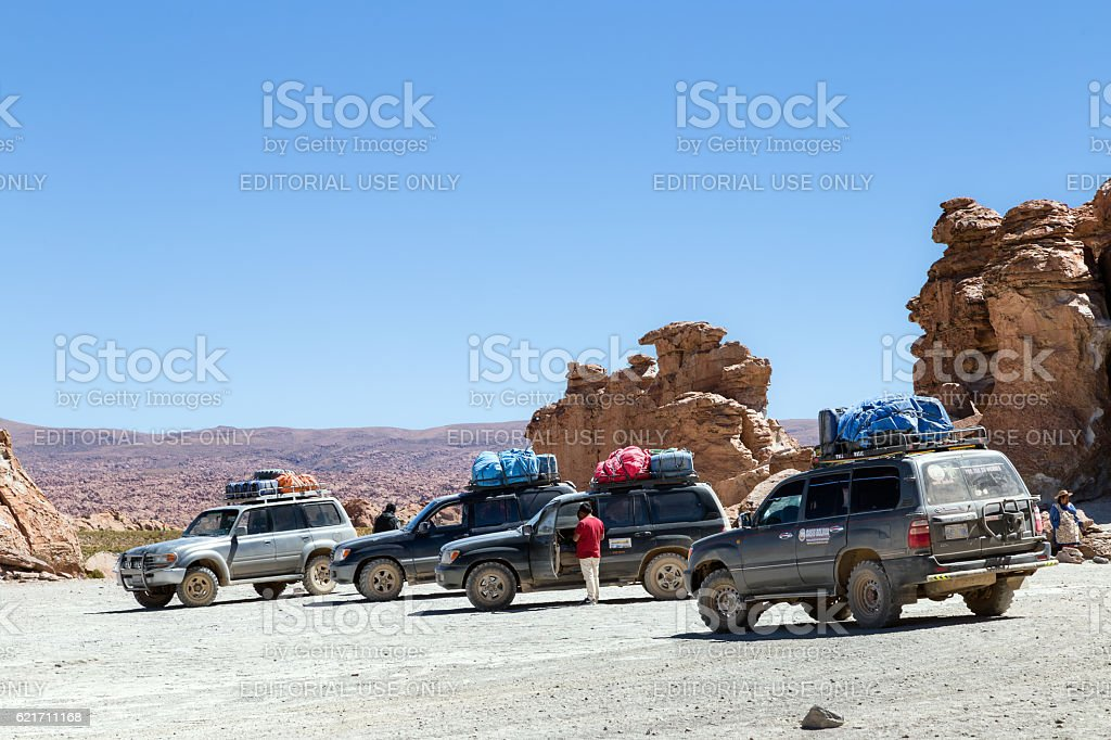 Rally Cars from Bolivia stock photo