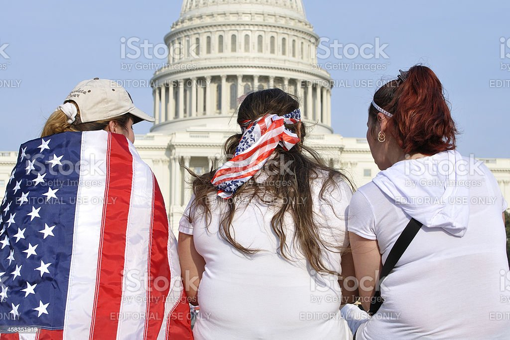 Rally for immigration reform royalty-free stock photo