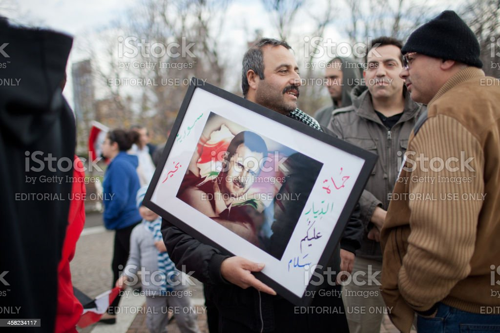 Rally for Syria royalty-free stock photo