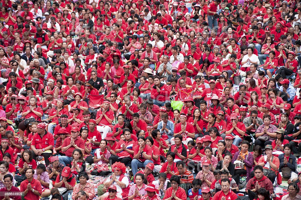 UDD (Red Shirt) Rally In Bangkok Thailand royalty-free stock photo