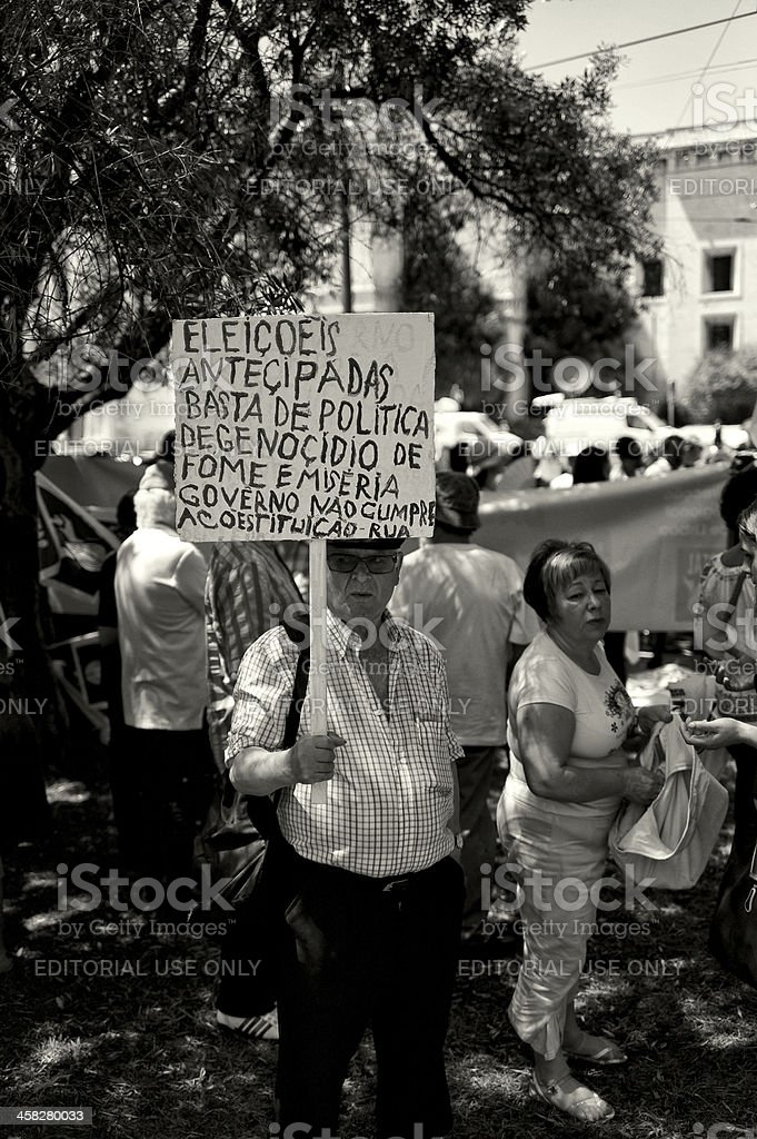 Rally in Lisbon royalty-free stock photo