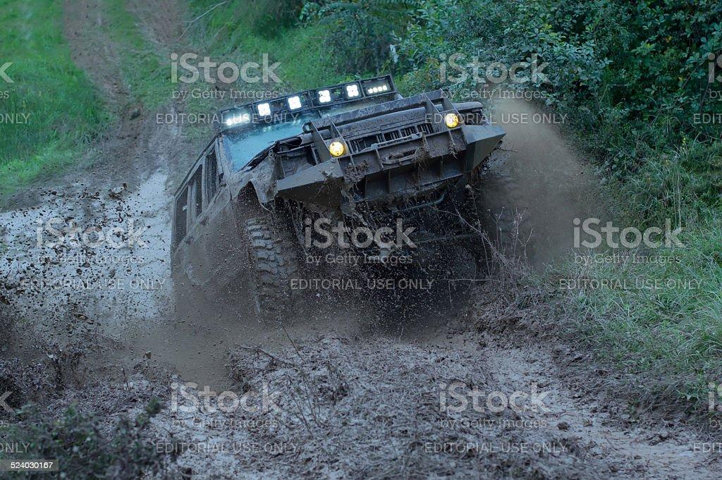 Rally race stock photo