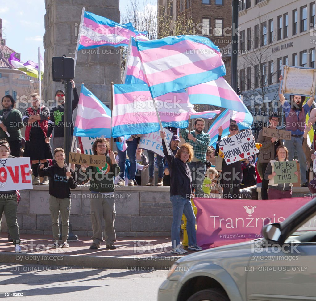 Rally to Oppose HB2 in North carolina stock photo