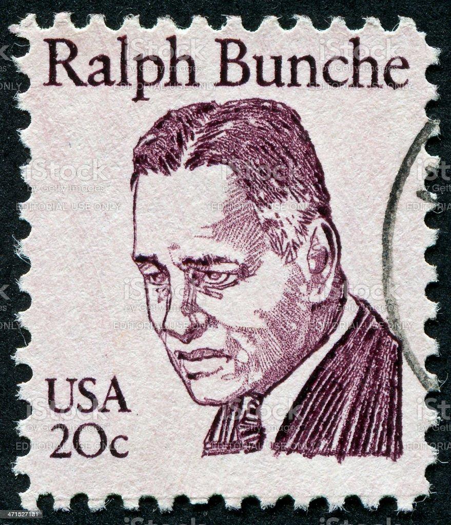 Ralph Bunche Stamp stock photo